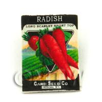 Dolls House Miniature Garden Scarlet Radish Seed Packet