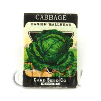 Dolls House Miniature Garden Danish Cabbage Seed Packet