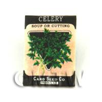 Dolls House Miniature Garden Soup Celery Seed Packet