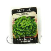 Dolls House Miniature Garden Curled Lettuce Seed Packet