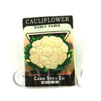 Dolls House Miniature Garden Paris Cauliflower Seed Packet