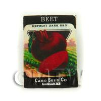 Dolls House Miniature Garden Detroit Beetroot Seed Packet