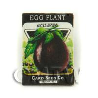 Dolls House Miniature Garden Egg Plant Seed Packet