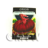 Dolls House Miniature Garden Red Onion Seed Packet