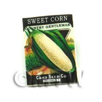 Dolls House Miniature Garden Country Sweet Corn Seed Packet