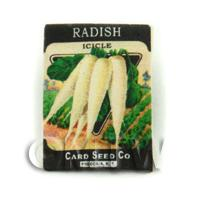 Dolls House Miniature Garden Icicle Radish Seed Packet
