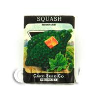 Dolls House Miniature Garden Hubbard Squash Seed Packet