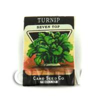 Dolls House Miniature Garden Seven Top Turnip Seed Packet