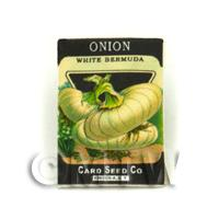 Dolls House Miniature Garden Bermuda Onion Seed Packet