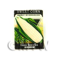 Dolls House Miniature Garden Early Sweet Corn Seed Packet