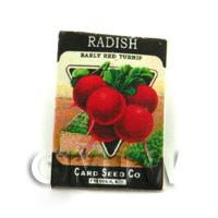 Dolls House Miniature Garden Red Radish Seed Packet