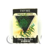 Dolls House Miniature Garden Thyme Seed Packet