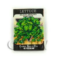 Dolls House Miniature Garden Simpson Lettuce Seed Packet
