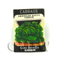 Dolls House Miniature Garden Savoy Cabbage Seed Packet