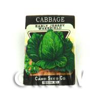 Dolls House Miniature Garden Wakefield Cabbage Seed Packet