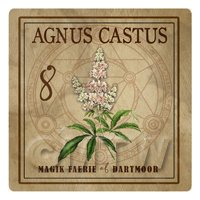 Dolls House Herbalist/Apothecary Square Agnus Castus Herb Label