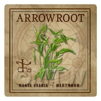 Dolls House Herbalist/Apothecary Square Arrowroot Herb Label