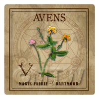 Dolls House Herbalist/Apothecary Square Avens Herb Label