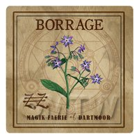 Dolls House Herbalist/Apothecary Square Borage Herb Label
