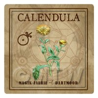 Dolls House Herbalist/Apothecary Square Calendula Herb Label