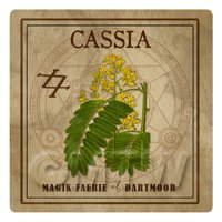 Dolls House Herbalist/Apothecary Square Cassia Herb Label