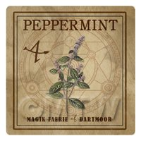 Dolls House Herbalist/Apothecary Square Peppermint Herb Label