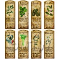 free dolls house miniature Herb Label Set