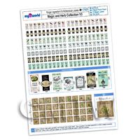 Dolls House Miniature - Dolls House Miniature 176 Magic Labels For Bottles A4 Value Sheet