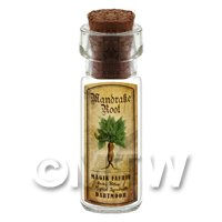 Dolls House Apothecary Mandrake Herb Short Colour Label And Bottle
