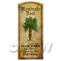 Dolls House Herbalist/Apothecary Mandrake Herb Short Colour Label