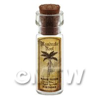 Dolls House Apothecary Mandrake Herb Short Sepia Label And Bottle