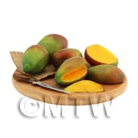 Dolls House Miniature Handcrafted Board of Mango Fruits