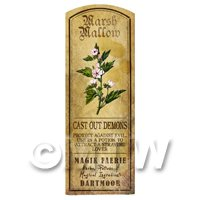 Dolls House Herbalist/Apothecary Marsh Mallow Herb Long Colour Label