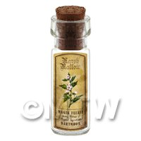 Dolls House Apothecary Marsh Mallow Herb Short Colour Label And Bottle