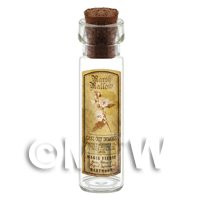 Dolls House Apothecary Marsh Mallow Herb Long Sepia Label And Bottle