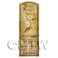 Dolls House Herbalist/Apothecary Marsh Mallow Plant Herb Long Sepia Label