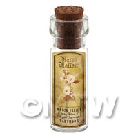 Dolls House Apothecary Marsh Mallow Herb Short Sepia Label And Bottle