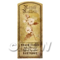 Dolls House Herbalist/Apothecary Marsh Mallow Herb Short Sepia Label