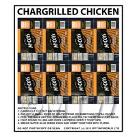 Dolls House Miniature Packaging Sheet of 8 McCoys Chicken Crisps