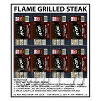 Dolls House Miniature Packaging Sheet of 8 McCoys Flame Grilled Crisps