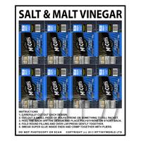 Dolls House Miniature Packaging Sheet of 8 McCoys Salt & Vinegar Crisps
