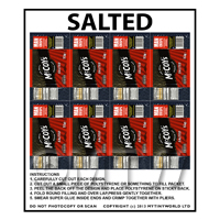 Dolls House Miniature Packaging Sheet of 8 McCoys Salted Crisps