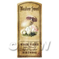 Dolls House Miniature Apothecary Meadow Sweet Fungi Colour Label