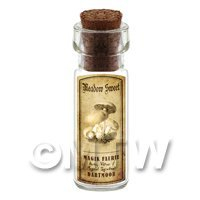 Dolls House Miniature Apothecary Meadow Sweet Fungi Bottle And Label