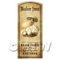 Dolls House Miniature Apothecary Meadow Sweet Fungi Label