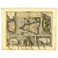 Dolls House Miniature Old Map Of The Mediterranean From The Late 1500s