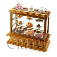 Dolls House Miniature - Medium Dolls House Miniature Wood Cafe Counter