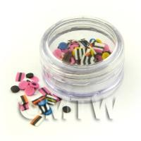 1/12th scale Popular Liquorice Allsorts Nail Art Pot With 120 Mixed Slices
