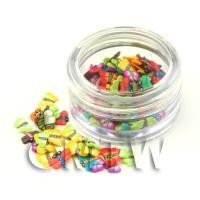 Mixed Dragonfly And Butterfly Nail Art Pot Containing 120 Slices