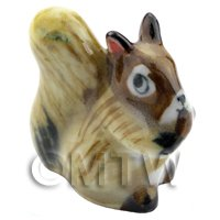 Dolls House Miniature Ceramic Brown Squirrel